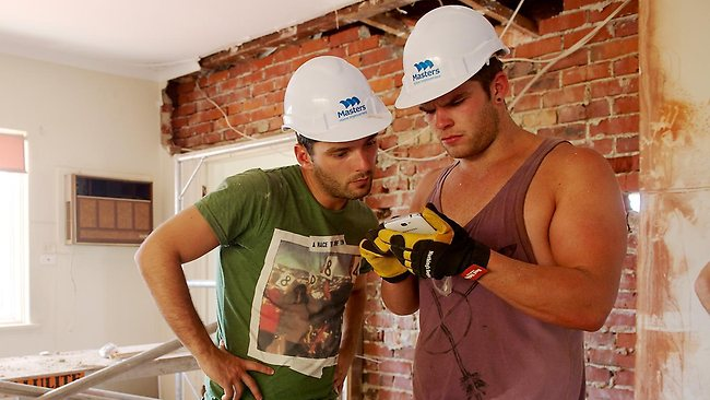 Nick and Chris from Channel 7's new reno show House Rules. Picture: Supplied