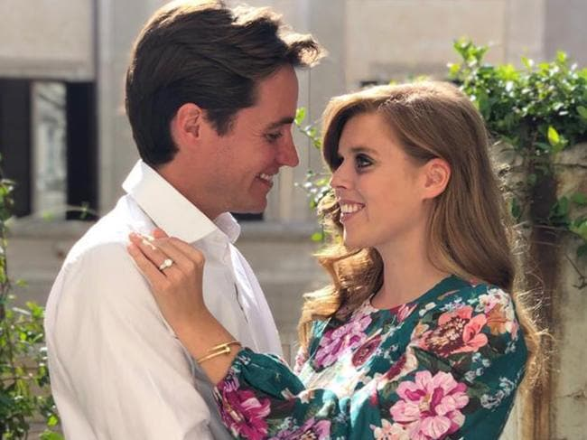 The couple got engaged in Italy last year.