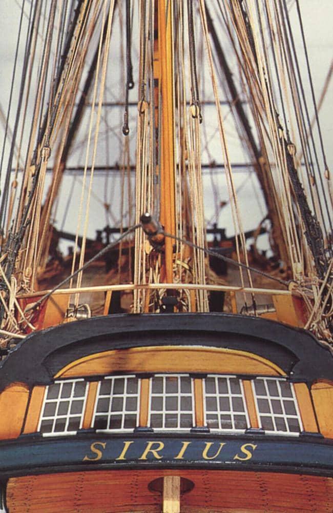 Model of the ship HMS Sirius.