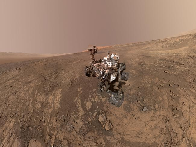 NASA's Curiosity Mars rover on Vera Rubin Ridge. On Thursday, June 7, 2018, scientists said the rover found potential building blocks of life in an ancient lake bed and confirmed seasonal increases in atmospheric methane.