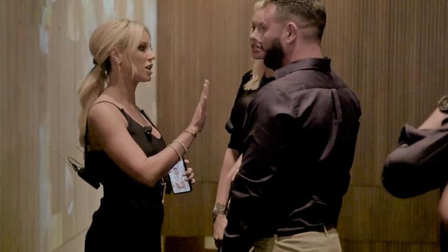 Caught on video, Roxy Jacenko's altercation with Anthony Hess which she claimed led to a hate campaign, but a judge said this was not true. Picture: Supplied
