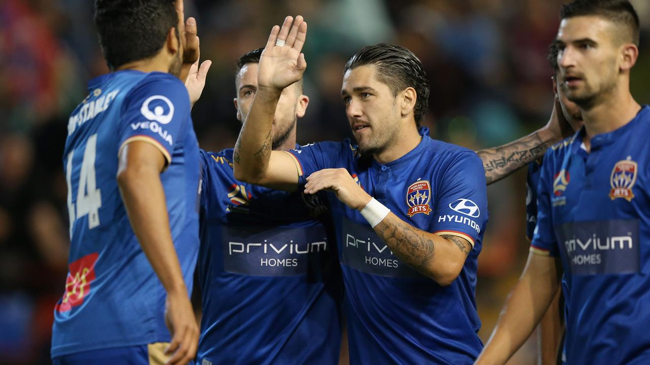 The Newcastle Jets beat Sydney FC to end their season on a high.