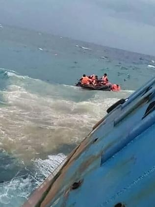 Rescuers raced to save more than 130 other passengers aboard the downed vessel.