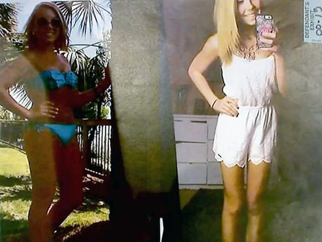 Brooke Skylar Richardson court photos shows her at different weights before she was pregnant. Picture: Rittgers and Rittgers