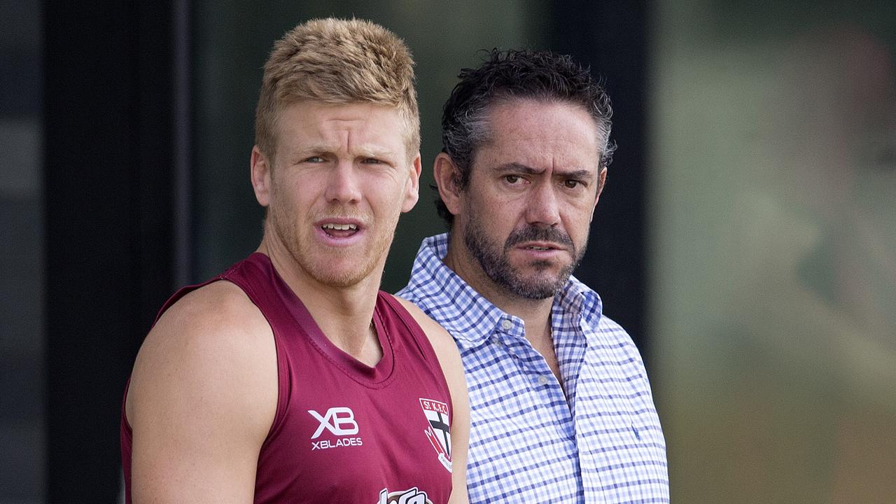 Dan Hannebery and Simon Lethlean look on at RSEA Park.
