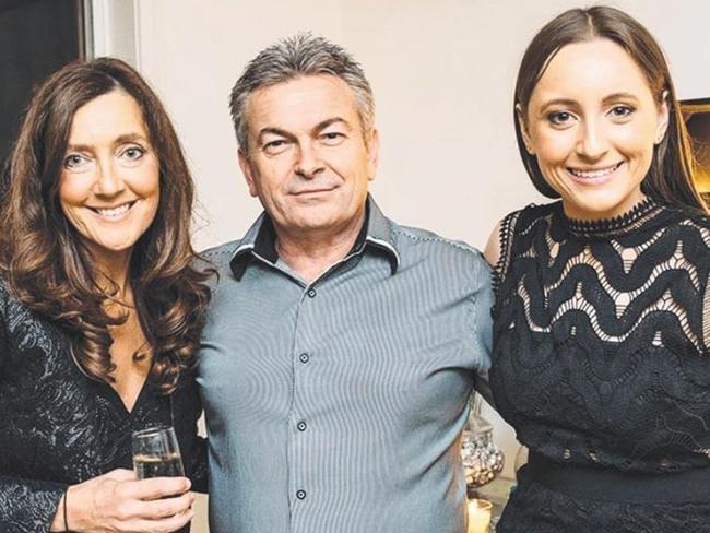 Sarah Ristevski, right, with her parents Karen and Borce Ristevski.