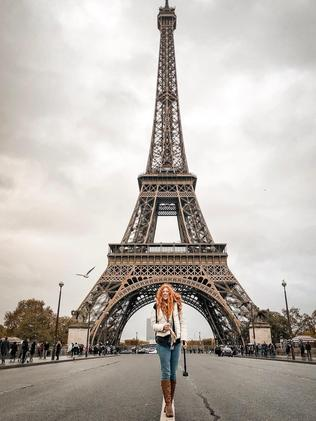She even managed to visit Paris, one of the world's most expensive cities. Picture: Jam Press