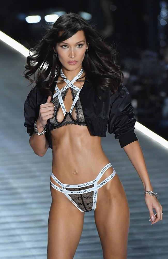 Supermodel Bella Hadid strutted the runway for VS in New York last year. Picture: Getty Images