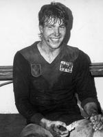 A muddy Jim Stynes after a Melbourne win in 1988.