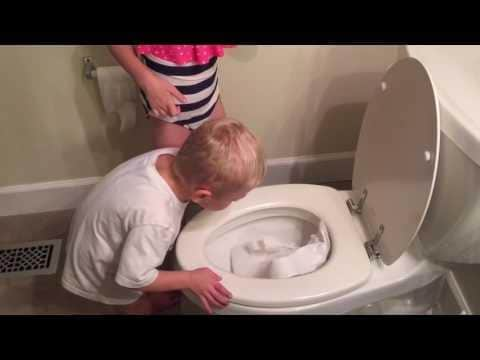 FUNNY: Mother Finds Kids Stuffing Toilet Paper Into the Toilet Bowl June 11