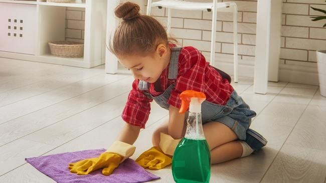 Many children do chores around the home to earn pocket money.