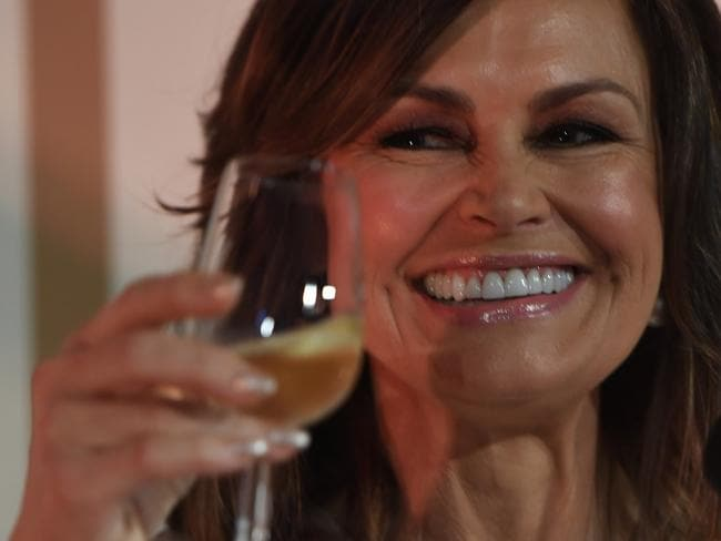 Lisa Wilkinson enjoyed her champagne at the Moet and Chandon event. Picture: Dean Lewins/AAP