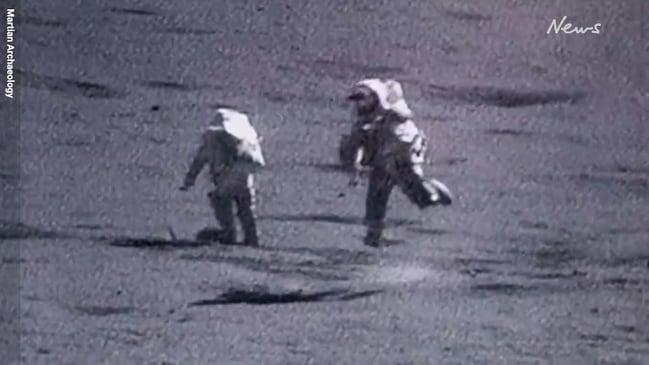 NASA footage shows Apollo astronauts falling over on moon