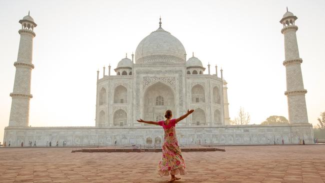 The Taj Mahal is one of the world's most visited buildings.