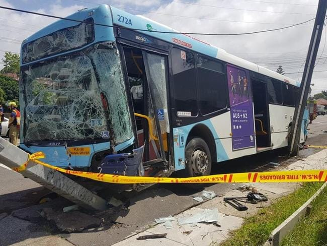 One of the buses involved. Picture: Junction St intersection. Picture: NSW Police