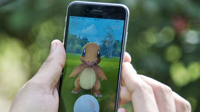 The highly-popular game Pokemon Go is the best example of AR. Picture: AP Photo/Thomas Cytrynowicz