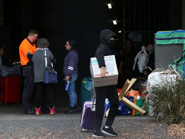 Residents were evacuated from the building in June. Picture: Jane Dempster/The Australian.