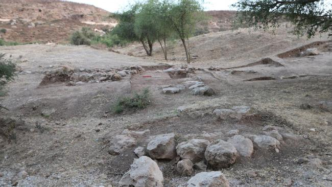 Remains of Iron Age fortifications in the lower city section of the Philistine city of Gath. Source: Professor Aren Maeir.