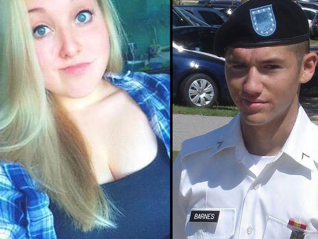 Jamie Silvonek, now 15, (left) and her former boyfriend and murder co-accused Caleb Barnes, now 21