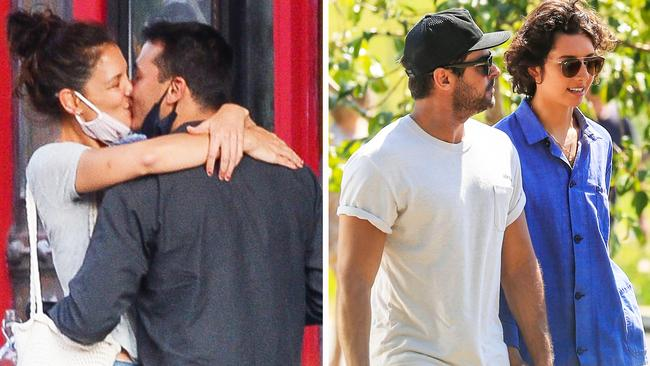 Katie Holmes kissing Emilio Vitoro Jr and Zac Efron holding hands with Vanessa Valladeres – NEWS.com.au