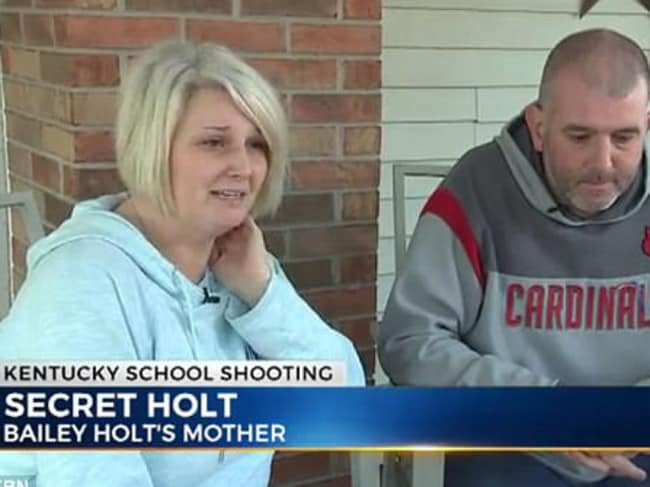 Secret and Jason Holt talk about daughter, Bailey. Picture: WKRN