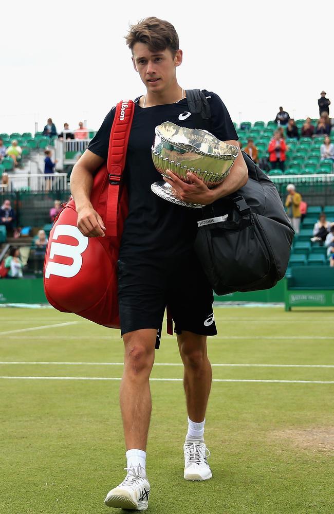 Alex De Minaur took out the title in Nottingham.