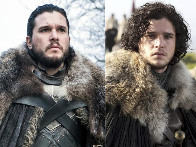 """Kit Harington portraying Jon Snow in  <span id=""""U65858339384VU"""" style=""""font-weight:normal;font-style:italic;"""">Game of Thrones</span>. The actor says that taking off his costume for the last time felt like being """"skinned"""". Picture: HBO via AP"""