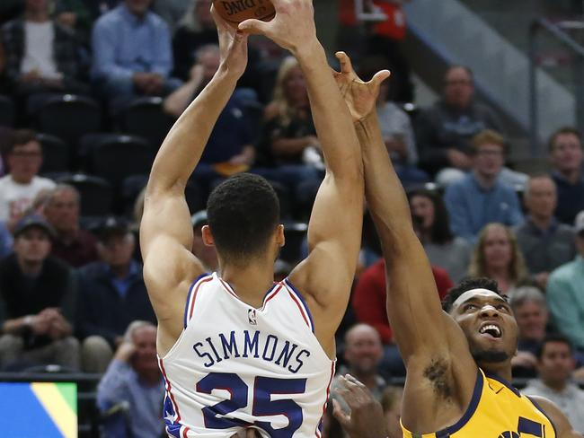 Ben Simmons showdown with Donovan Mitchell didn't eventuate.