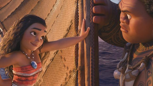 Moana and Maui make a great team. Picture: Supplied