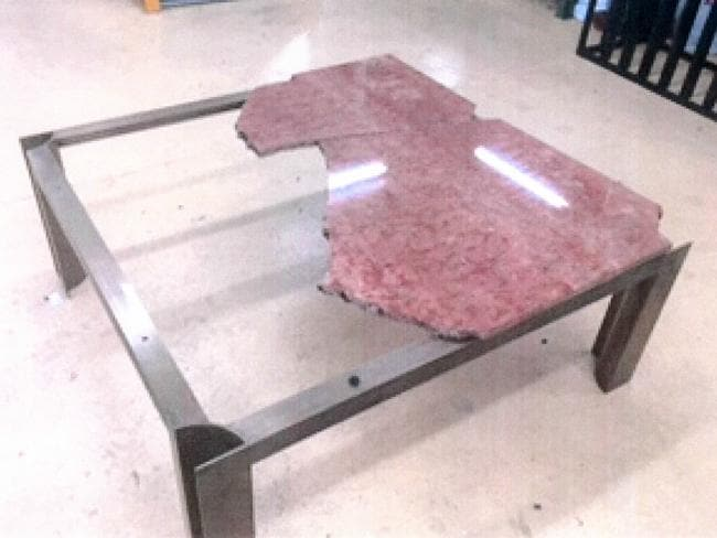 An Italian marble table — which cost $590 when it was purchased in 1988 — was broken at Mr Abbott's infamous 'Dirty 30' party in 2015.