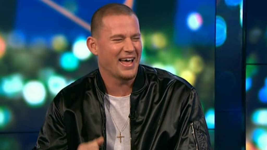 It's safe to say Channing Tatum still doesn't have a clue what a guernsey is. Picture: Channel 10.