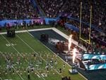 The Philadelphia Eagles take the field prior to the game against the New England Patriots in Super Bowl LII at U.S. Bank Stadium on February 4, 2018 in Minneapolis, Minnesota. Picture: Getty