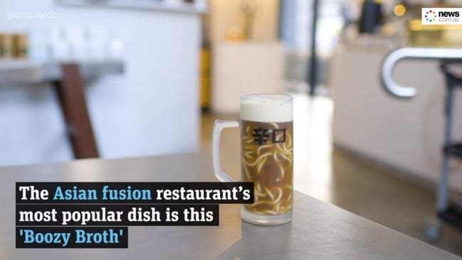 Is this beer glass ramen the 'weirdest 'drink' you've ever seen?