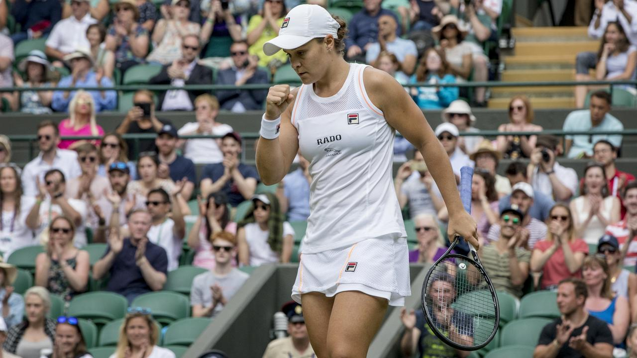 Seven has been slammed for not showing large chunks of Ash Barty's opening match at Wimbledon.