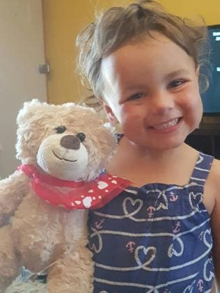 Indy Henderson, 3, who died after a war memorial sandstone monument fell on her near Taree. Picture: Channel 7