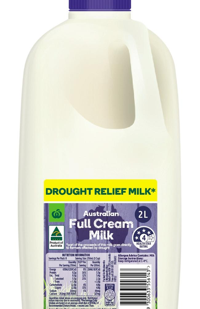 Woolworths' new drought relief range will hit shelves next month.