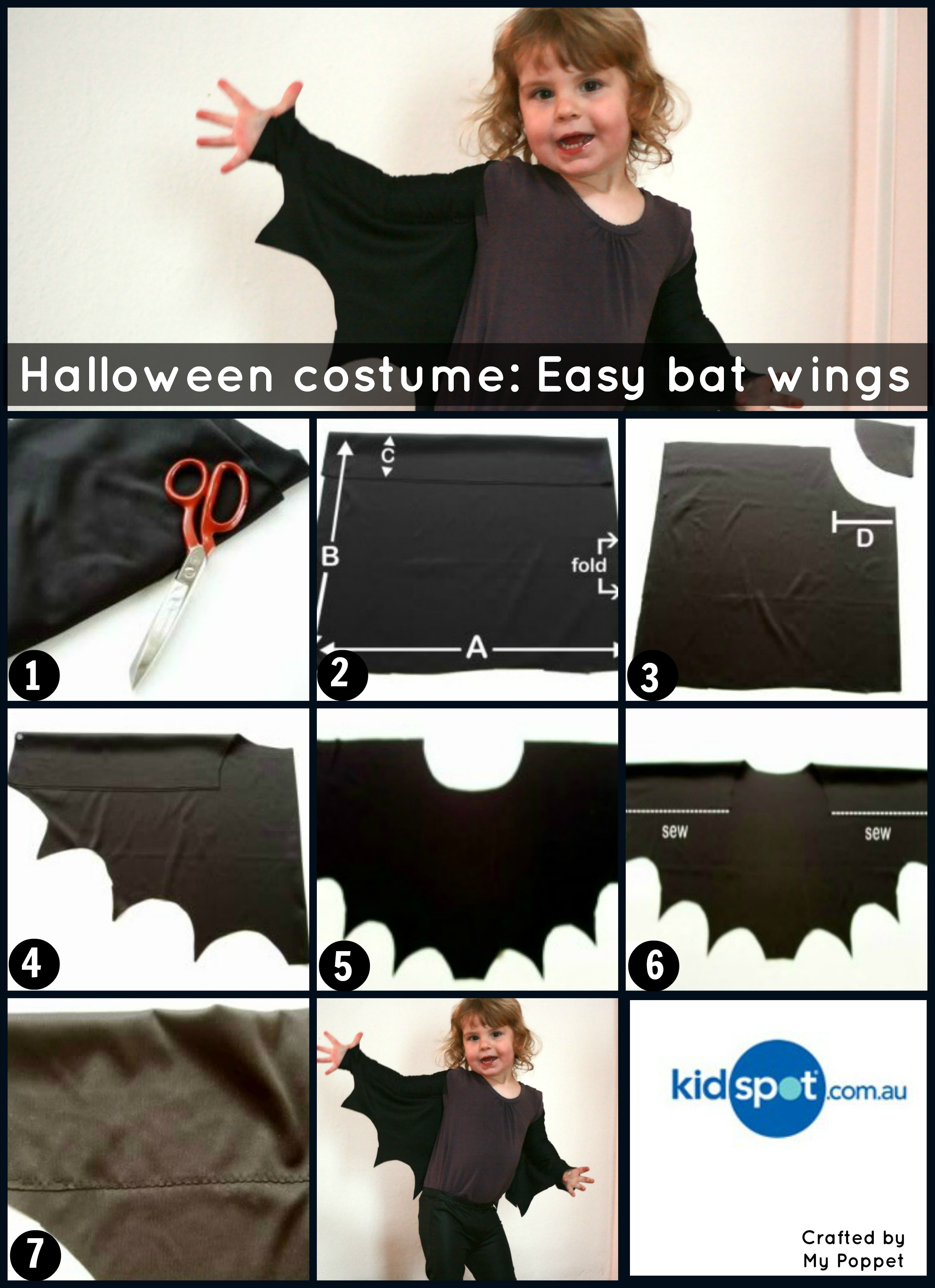 How to make an easy peasy halloween costume bat wings for little batwingsagaing solutioingenieria Choice Image
