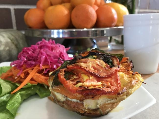 The seasonal frittata. Picture: Jenifer Jagielski
