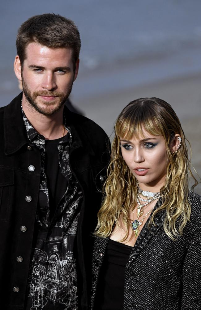 Miley Cyrus has hit out at rumours she and hubby Chris Hemsworth have split. Picture: Getty Images