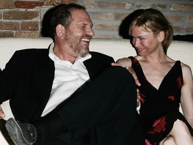 Weinstein and Zellweger at the Venice Film Festival in 2005. Photo: Pascal Le Segretain/Getty Images