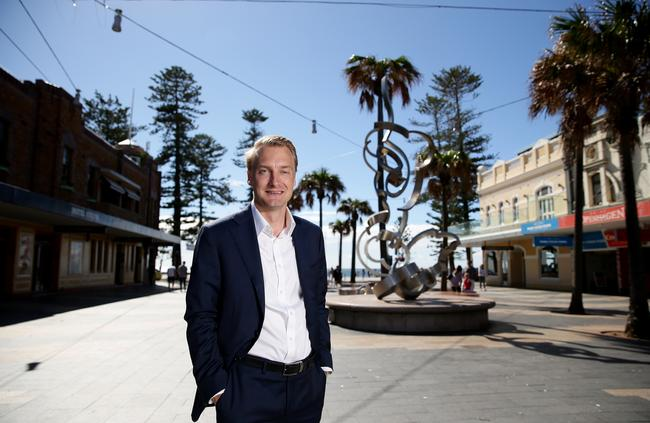 Manly state Liberal MP James Griffin Picture: Troy Snook