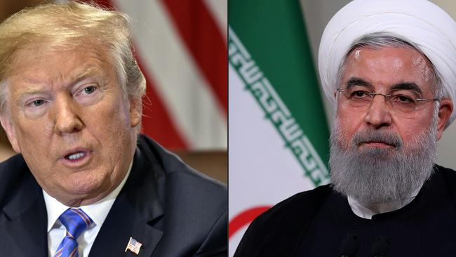 US President Donald Trump and Iran President Hassan Rouhani. Picture: AFP
