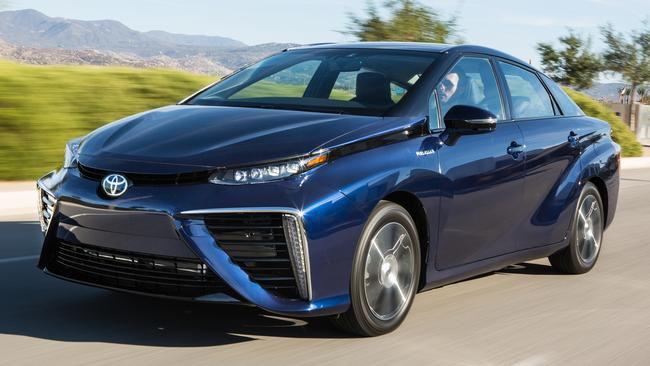 The Toyota Mirai drives like a normal car but is fuelled by hydrogen. Picture: Supplied.
