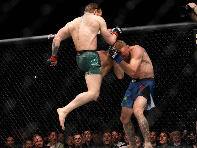 Conor McGregor was the only one landing meaningful blows.