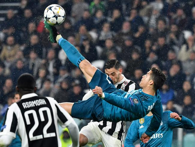 McGree is up against Cristiano Ronaldo's bicycle strike against Juventus. Picture: AFP