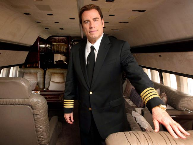 John Travolta on board his Boeing 707, which he has just donated to the Historical Aircraft Restoration Society.