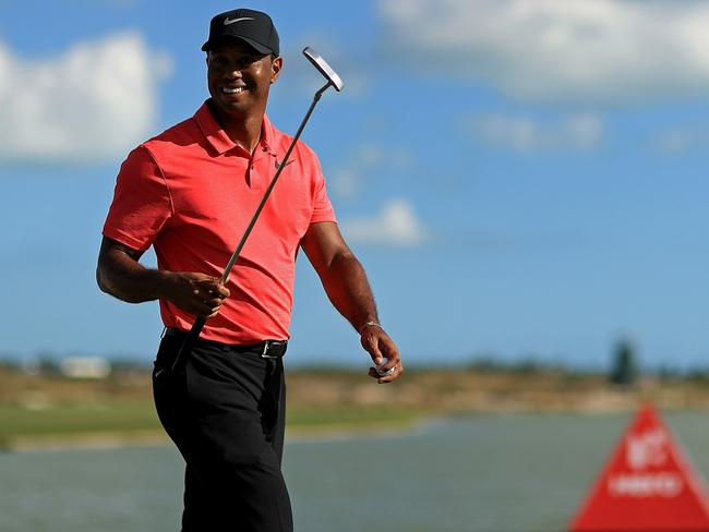 Tiger Woods finished well at his comeback event, the Hero World Challenge in the Bahamas. Photo: Mike Ehrmann (Getty Images/AFP)