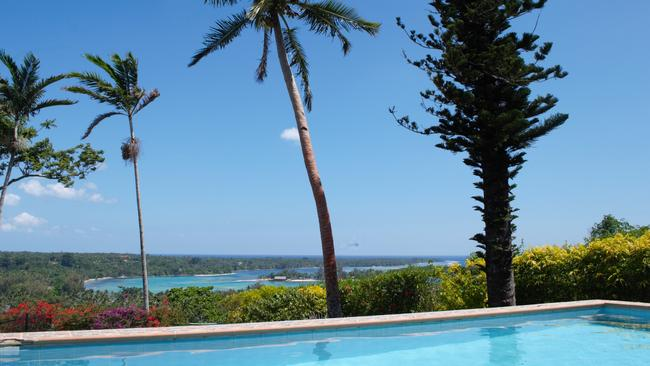 The view from a four-bedroom luxury home up for sale in Port Vila in Vanuatu. It is listed at A$900,000.