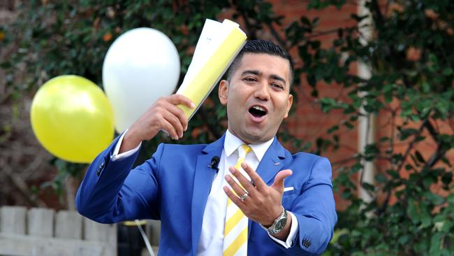 Ray White auctioneer Kevin Chokshi said many families were interested. Picture: Andrew Henshaw