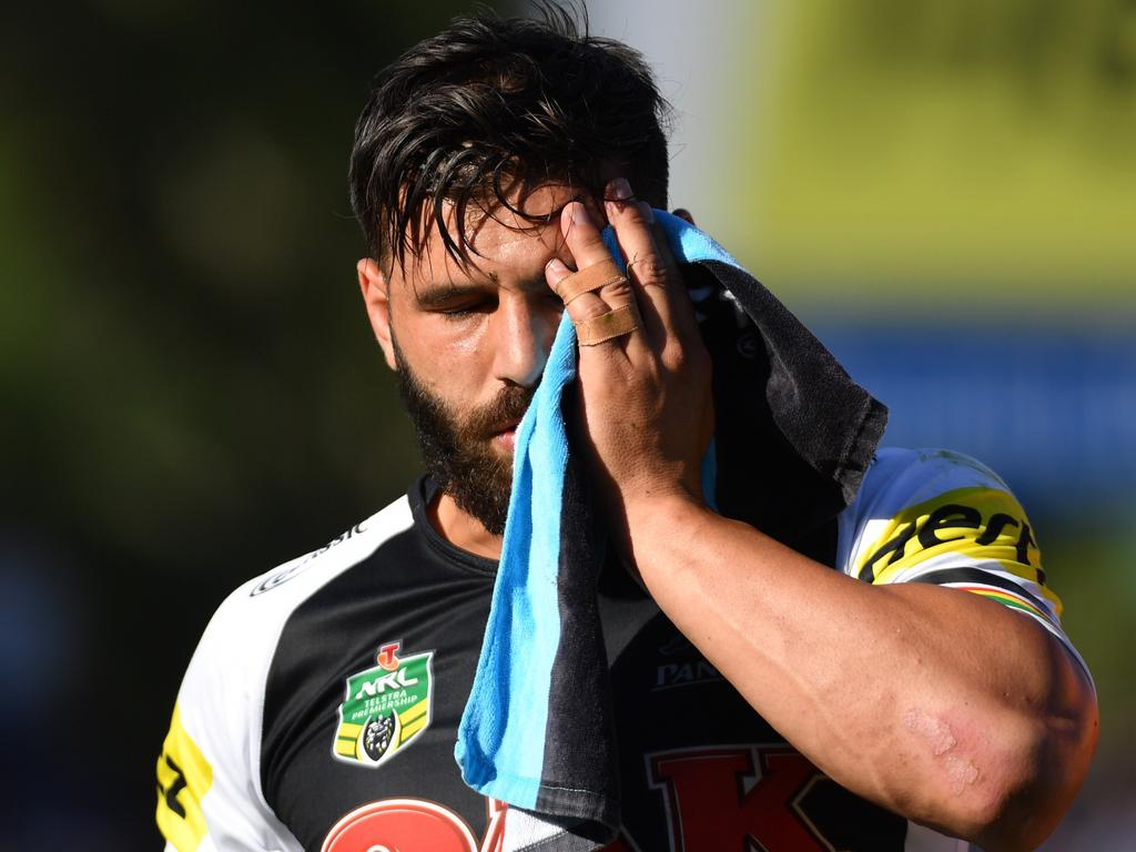 Josh Mansour comes off injured in Penrith games against the Titans,